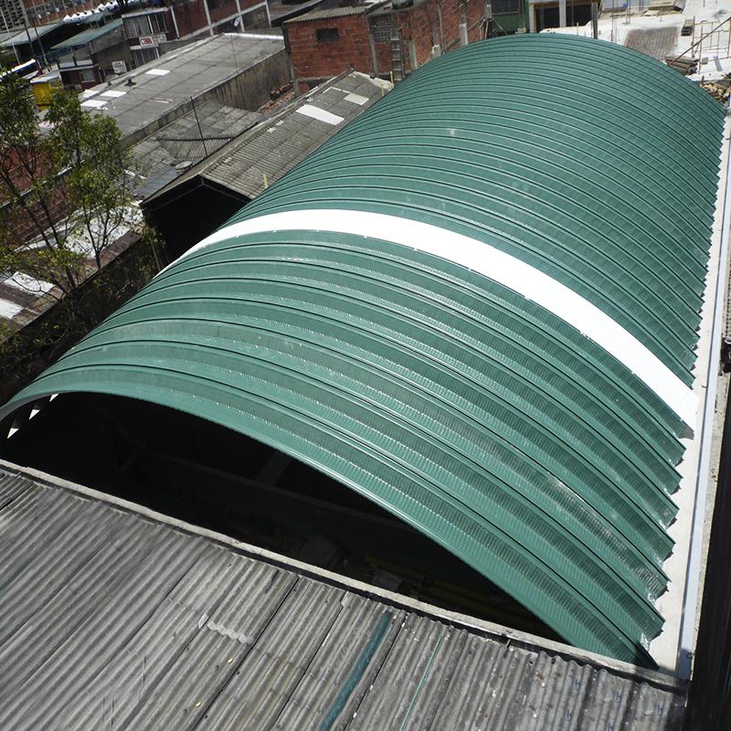 Cubierta Autoportante Curva de chapa de acero Ternium
